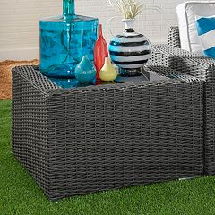 HomeVance Ravinia Wicker End Table