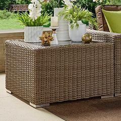 HomeVance Ravinia Wicker End Table