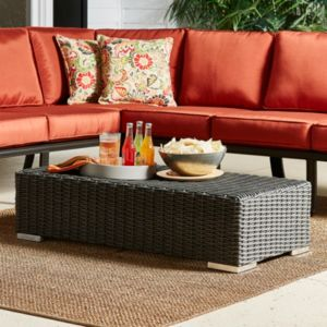 HomeVance Ravinia Wicker Patio Coffee Table