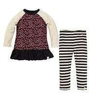 Baby Girl Burt's Bees Baby Organic Tree Raglan Top & Leggings Set