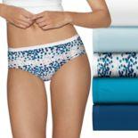 Hanes Ultimate 6 pkUltra Soft Cotton Comfort Hipster Panties 41HUC6
