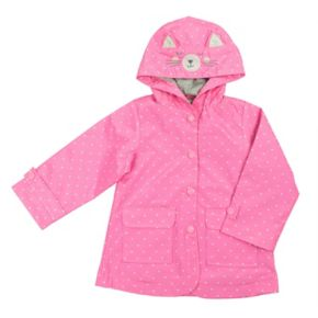 Girls 4-6x Carter's Dotted Rain Jacket