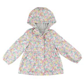 Girls 4-8 Carter's Midweight Floral Windbreaker