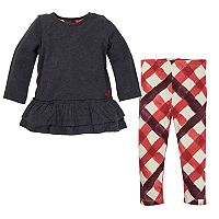 Baby Girl Burt's Bees Baby Organic Thermal Skater Dress & Leggings Set