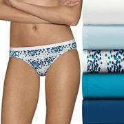 Hanes Ultimate 6 pkUltra Soft Cotton Comfort Bikini Panties 42HUC6
