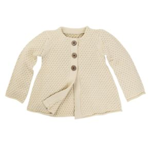 Baby Girl Burt's Bees Baby Organic Button-Front Cardigan