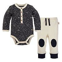 Baby Girl Burt's Bees Baby Organic Star Bodysuit & Pants Set