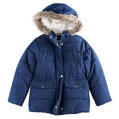 Girls 4-8 Carter's Faux-Fur Trim Parka Jacket
