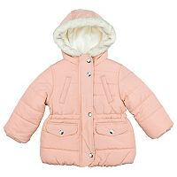 Girls 4-8 Carter's Faux-Fur Trim Parka Jacket