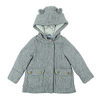 Girls 4-6x Carter's Faux Wool Lurex Coat