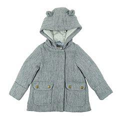 Girls 4-6x Carter's Faux Wool Lurex Coat