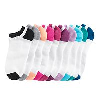 Women's Tek Gear® 10-pk. Half-Cushioned No-Show Socks