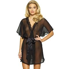 Women's Jezebel Ida Lace Trim Semi-Sheer Wrap