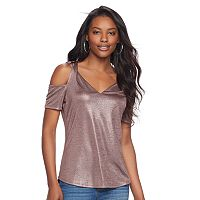 Women's Juicy Couture Metallic Cold-Shoulder Tee