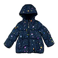 Girls 4-6x OshKosh B'gosh® Heavyweight Fleece-Lined Foil Star Printed Jacket