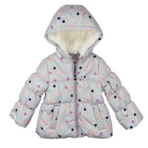 Girls 4-6x OshKosh B'gosh® Heavyweight Fleece-Lined Polka-Dot Printed Puffer Jacket