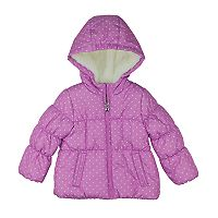 Girls 4-6x OshKosh B'gosh® Heavyweight Fleece-Lined Polka-Dot Printed Puffer Jacket