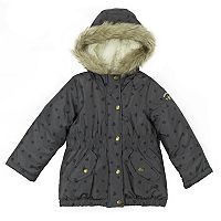 Girls 4-8 OshKosh B'gosh® Faux-Fur Trim Heart Heavyweight Parka Jacket