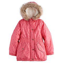 Girls 4-8 OshKosh B'gosh® Faux-Fur Trim Heart Heavyweight Parka Jacket
