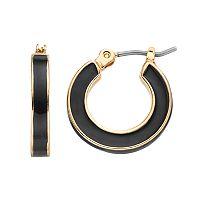 Napier Inlaid Nickel Free Hoop Earrings