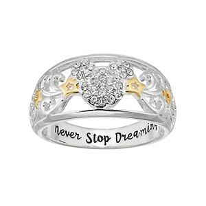 Disney's Mickey Mouse Two Tone Crystal Star Ring