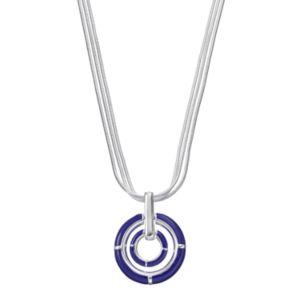 Napier Multi Strand Circle Pendant Necklace