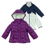 Girls 4-6x OshKosh B'gosh® Heavyweight Heart Pattern Fleece-Lined 4-in-1 Systems Jacket