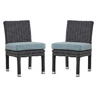 HomeVance Ravinia Charcoal Wicker Dining Chair 2-piece Set