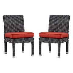 HomeVance Ravinia Charcoal Wicker Dining Chair 2 pc Set