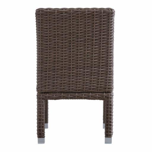 HomeVance Ravinia Mocha Wicker Dining Chair 2-piece Set