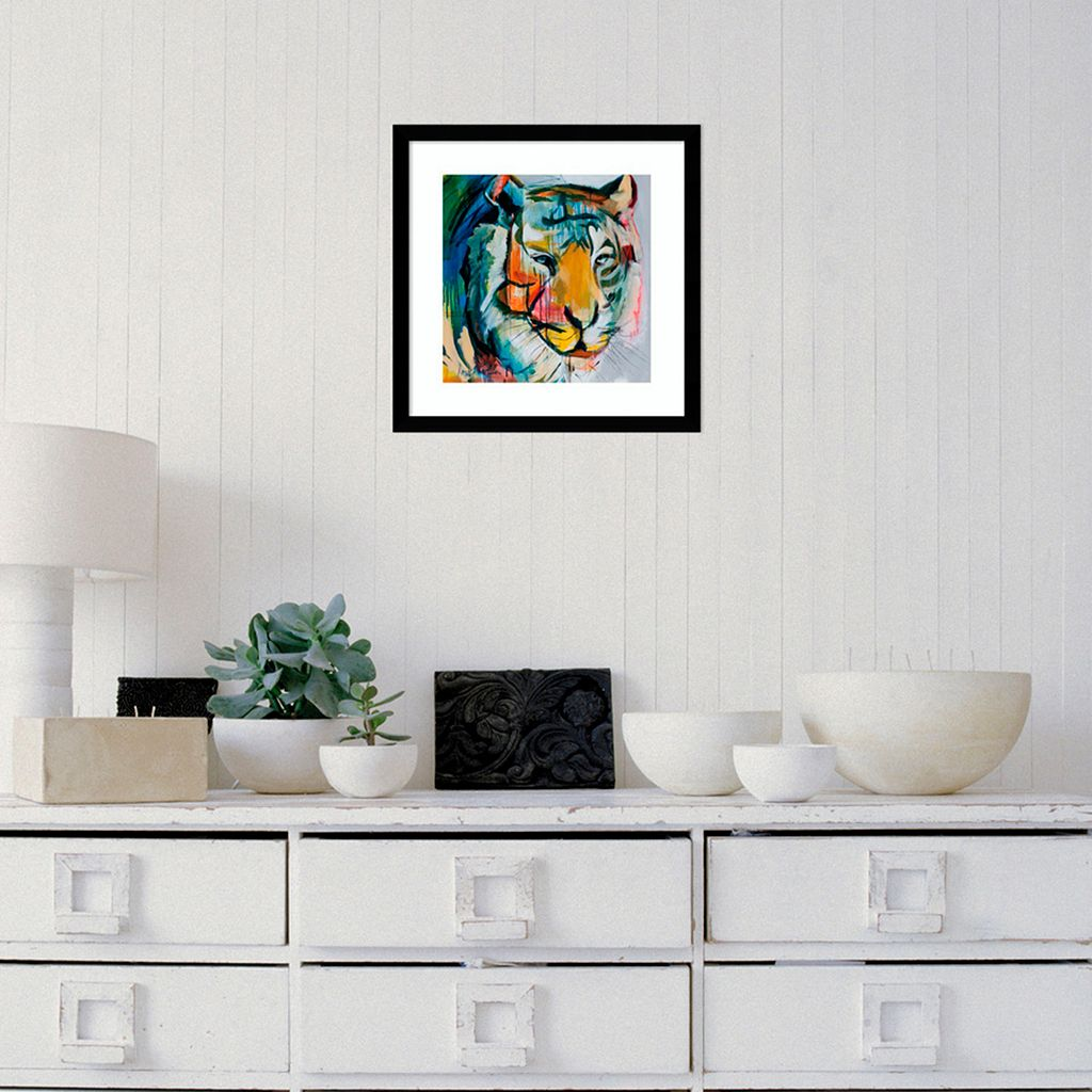 Amanti Art Tiger Tiger Framed Wall Art