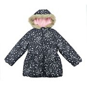 Girls 4-8 OshKosh B'gosh® Star Print Jacket with Faux-Fur Trim
