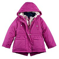 Girls 4-8 Carter's Heavyweight Heart-Print Fleece 4-in-1 Systems Jacket