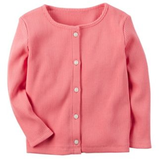 Girls 4-8 Carter's Ribbed Long-Sleeve Cardigan