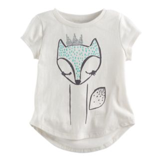Toddler Girl Jumping Beans® Glittery Fox Graphic Tee