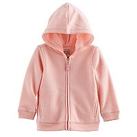 Jumping Beans® Baby Girl Fleece-Lined Zip Hoodie