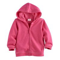 Jumping Beans® Baby Girl Fleece-Lined Zip Hoodie