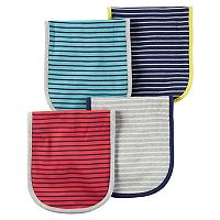 Baby Boy Carter's 4-pk. Striped Burp Cloths