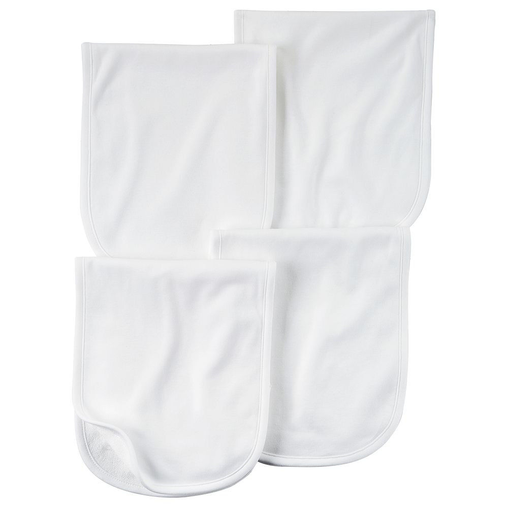Baby Carter's 4-pk. Solid White Burp Cloths