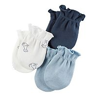 Baby Boy Carter's Solid & Print Mitts