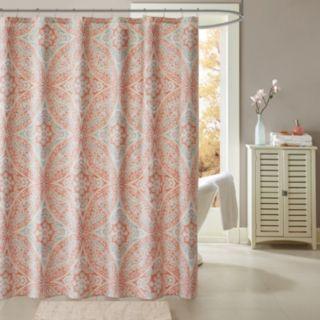 Madison Park Addison Medallion Printed Shower Curtain