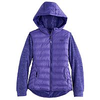 Girls 4-16 Hawke & Co Midweight Sweater Fleece Puffer Jacket
