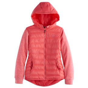 Girls 4-16 Hawke & Co Midweight Sweater Fleece Puffer Jacket