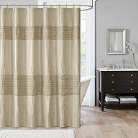 Madison Park Eastridge Metallic Pieced Shower Curtain