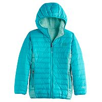Girls 7-16 Hawke & Co Midweight Sweater Fleece Lined Puffer Jacket