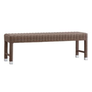 HomeVance Ravinia Wicker Patio Bench