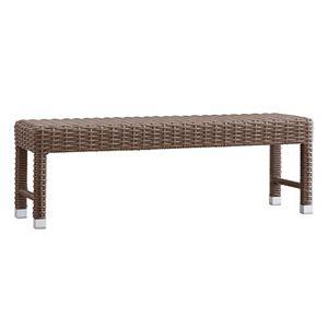 HomeVance Ravinia Wicker Patio Bench