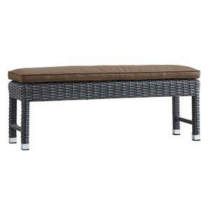 HomeVance Ravinia Charcoal Wicker Patio Bench