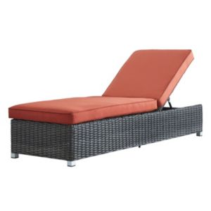 HomeVance Ravinia Charcoal Wicker Chaise Lounge Chair