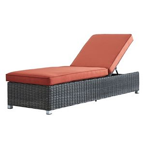 HomeVance Ravinia Charcoal Wicker Chaise Lounge Chair